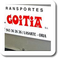 Camión de Transportes Goitia (Gipuzkoa)